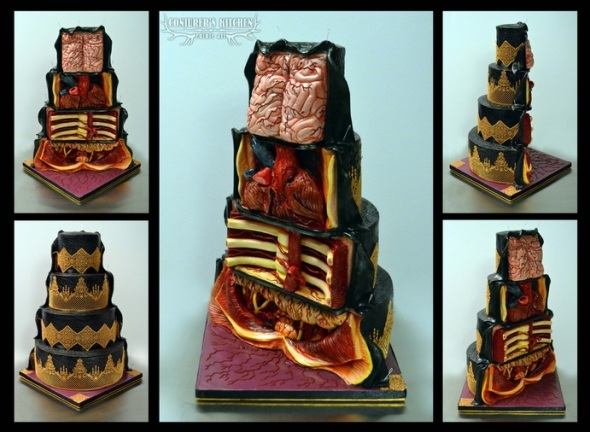 Dissected Cake What´s Inside