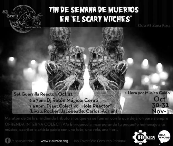 Flyer Dia de Muertos El Scary 2015