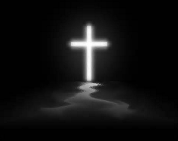 white-cross-on-black-background