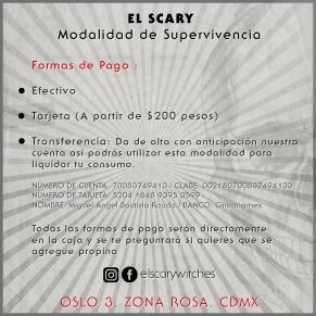 El Scary Banner Formas de Pago