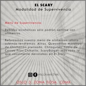 El Scary Banner Menú de Supervivencia