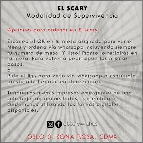 El Scary Banner Opciones para ordenar